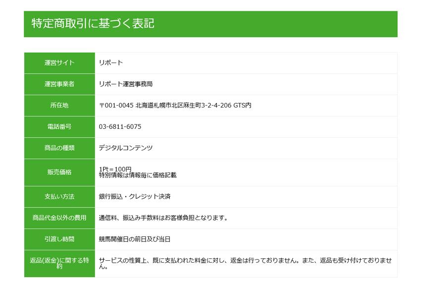 REPORT(リポート) 運営元 検証