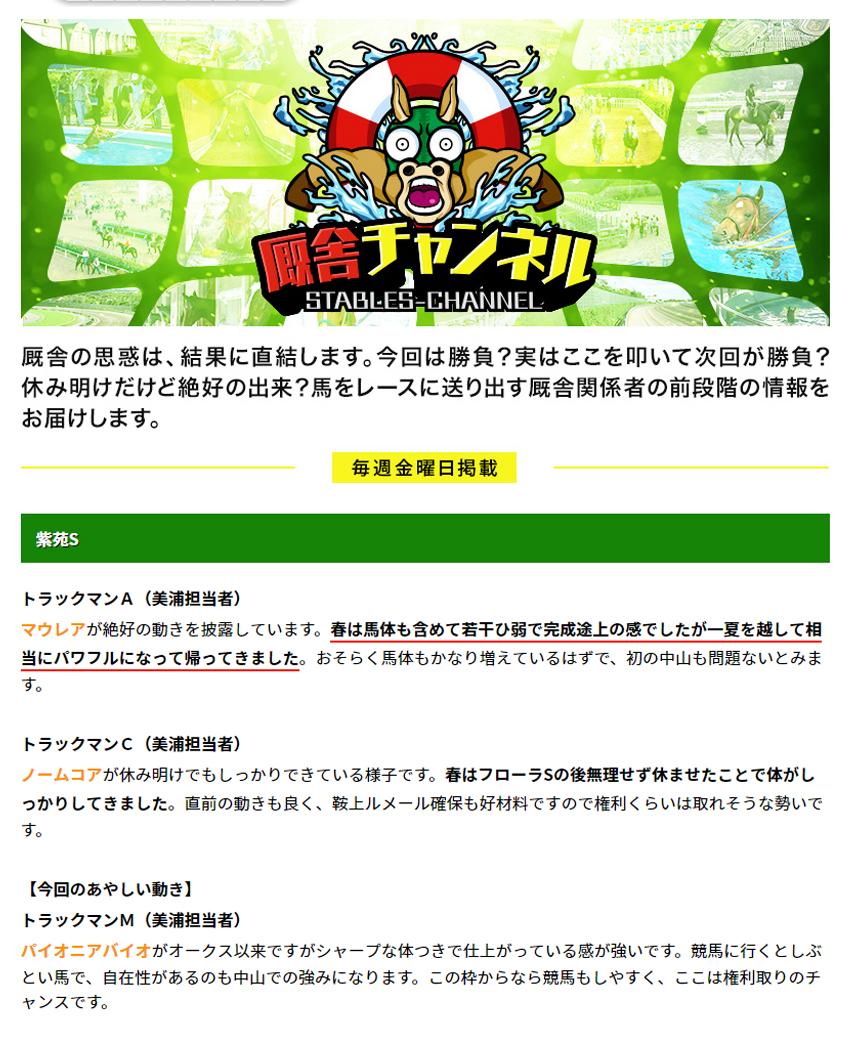 UMAチャンネル 会員ページ 検証