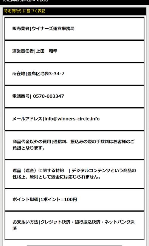 中央競馬投資会 Winners(ウイナーズ) 運営元 検証